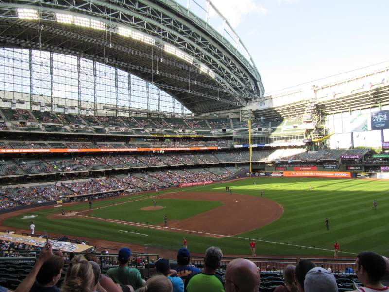 Seating view for Miller Park Section 210 Row 11 Seat 6