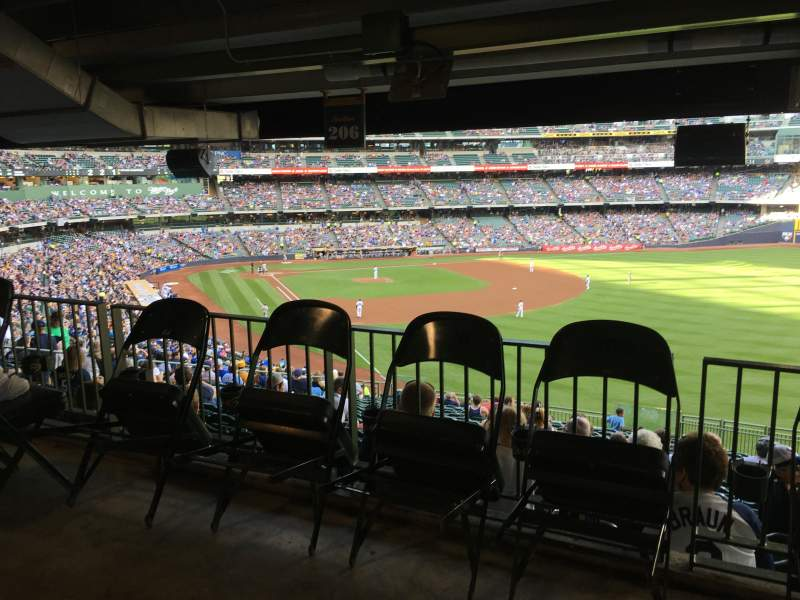 Seating view for Miller Park Section 206 Row Standing Room Seat Standing R