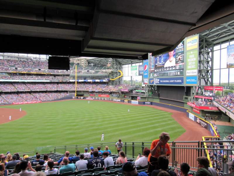Seating view for Miller Park Section 206 Row 19 Seat 11