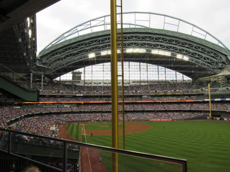Seating view for Miller Park Section Between 206 and 205 Row Standing Room Seat Standing R