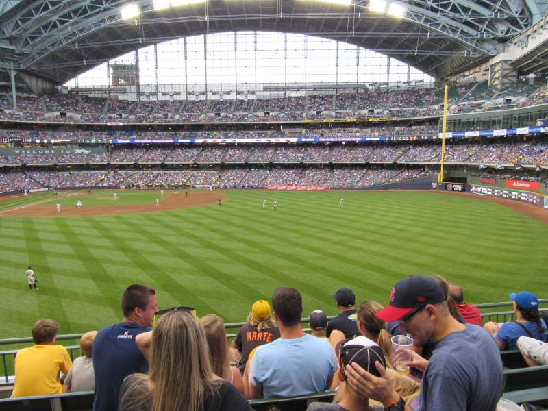 Seating view for Miller Park Section 202 Row 5 Seat 19