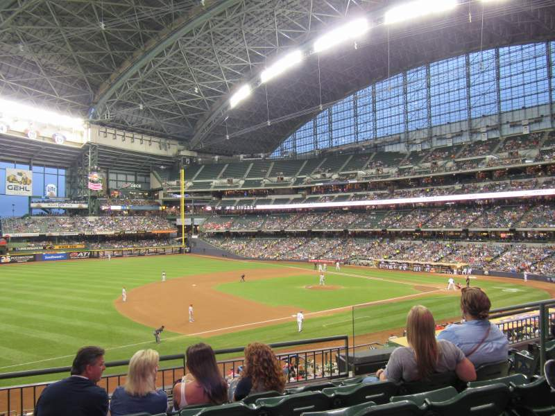 Seating view for Miller Park Section 227 Row 5 Seat 6