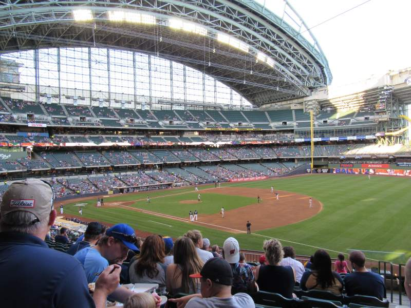 Seating view for Miller Park Section 210 Row 12 Seat 20