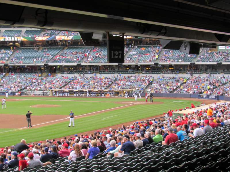 Seating view for Miller Park Section 127 Row Standing Room Seat Standing R