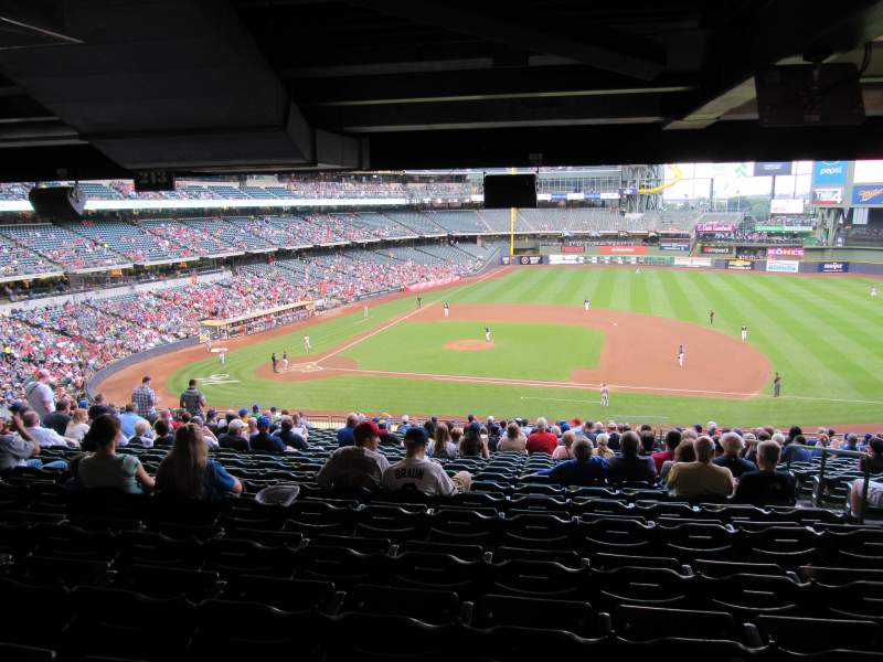 Seating view for Miller Park Section 213 Row Standing Room Seat Standing R