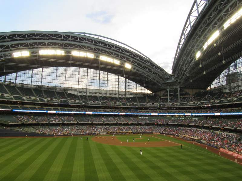 Seating view for Miller Park Section 238 Row Standing Room Seat Standing R