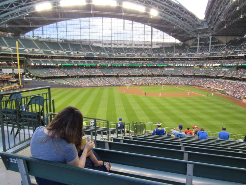 Seating view for Miller Park Section 237 Row Standing Room Seat Standing R