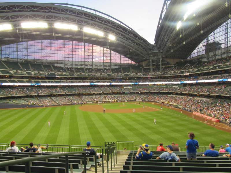 Seating view for Miller Park Section 237 Row 16 Seat 21