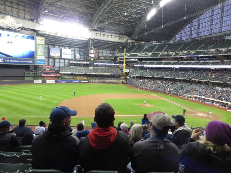 Seating view for American Family Field Section 225 Row 13 Seat 4