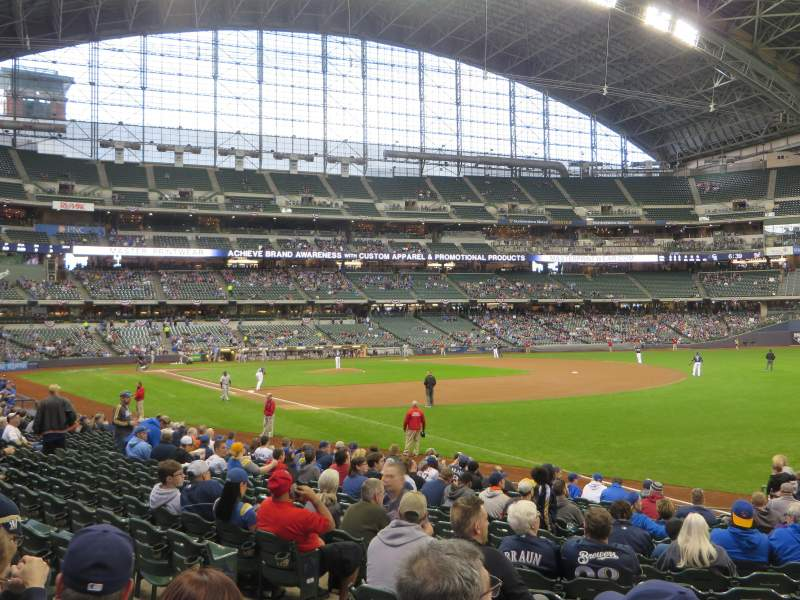Seating view for American Family Field Section 108 Row 18 Seat 7