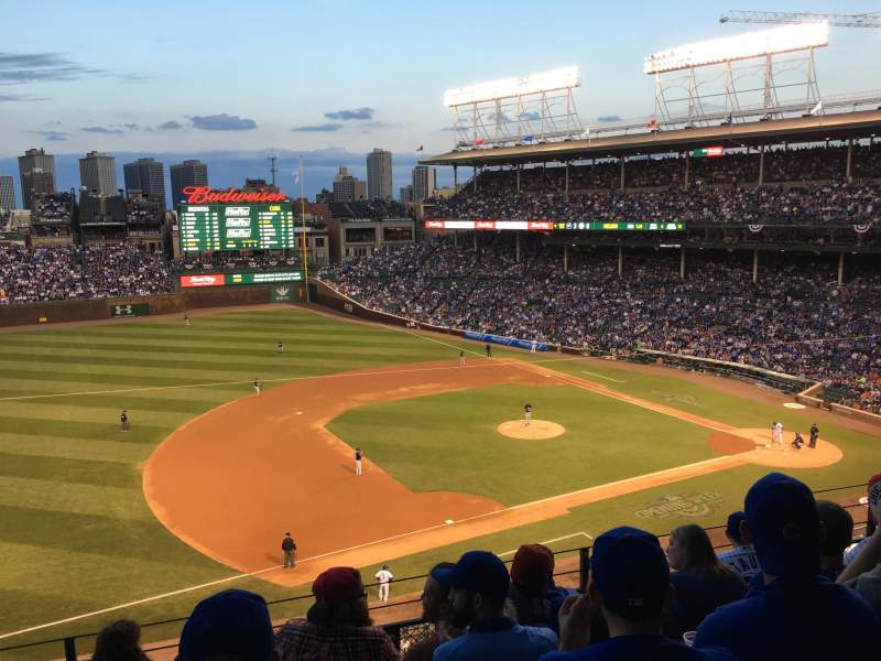 Seating view for Wrigley Field Section 307L Row 6 Seat 16