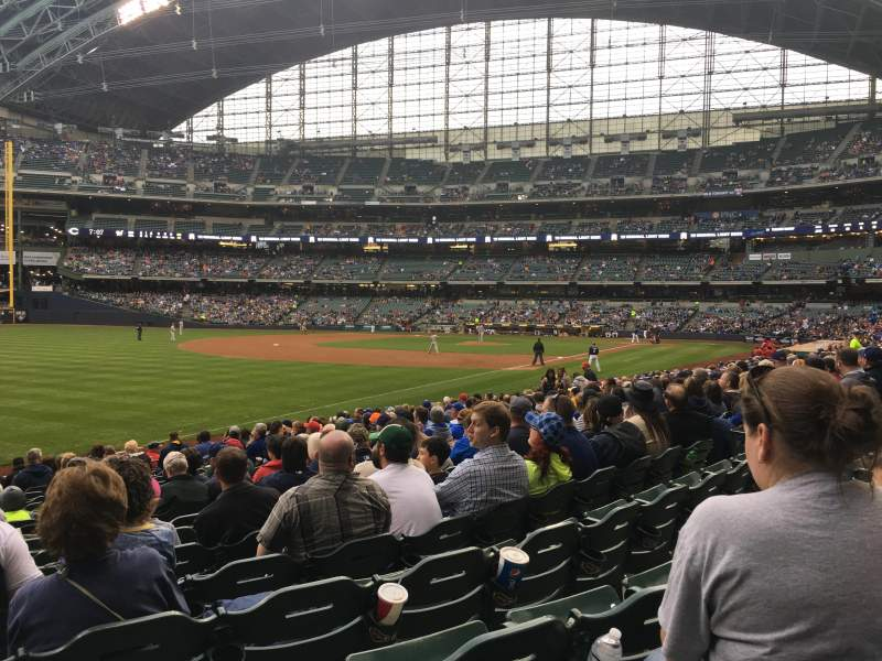 Seating view for Miller Park Section 128 Row 18 Seat 13