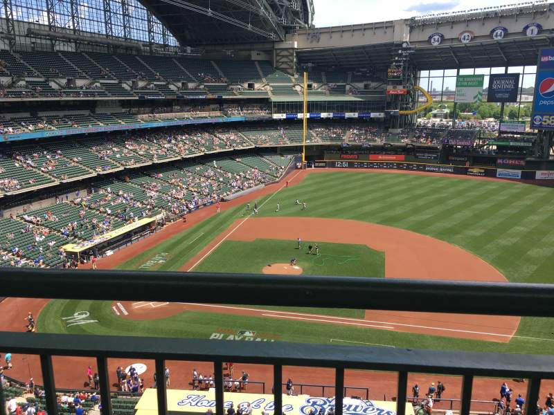 Seating view for Miller Park Section 415 Row 1 Seat 10