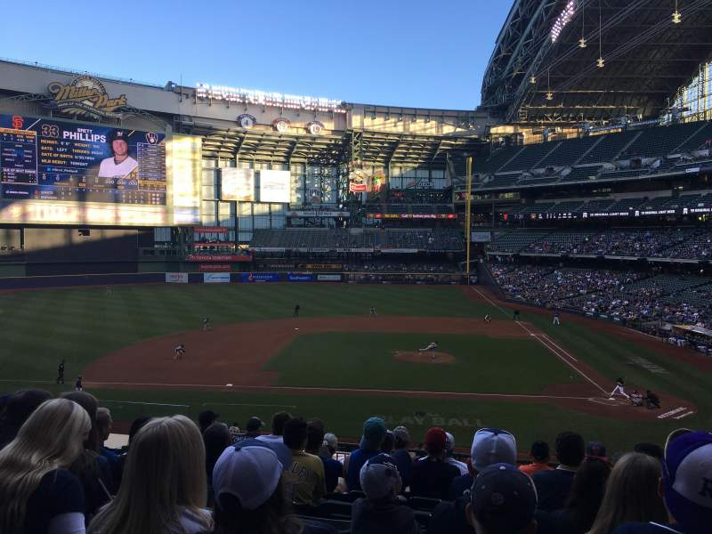 Seating view for Miller Park Section 223 Row 9 Seat 10