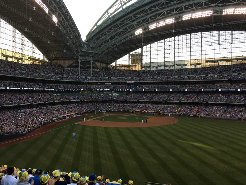 Seating view for Miller Park Section 202 Row 11 Seat 27