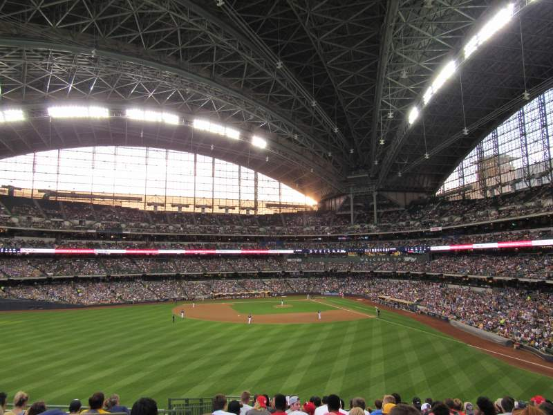 Seating view for Miller Park Section 237 Row 15 Seat 18