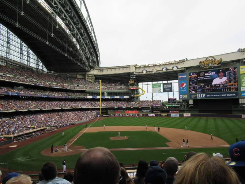 Seating view for Miller Park Section 214 Row 6 Seat 5