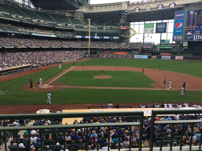 Seating view for Miller Park Section 214 Row 2 Seat 10