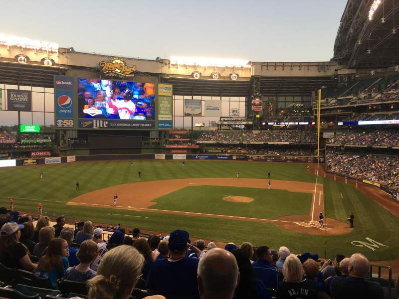 Miller Park, section: 222, row: 11, seat: 2