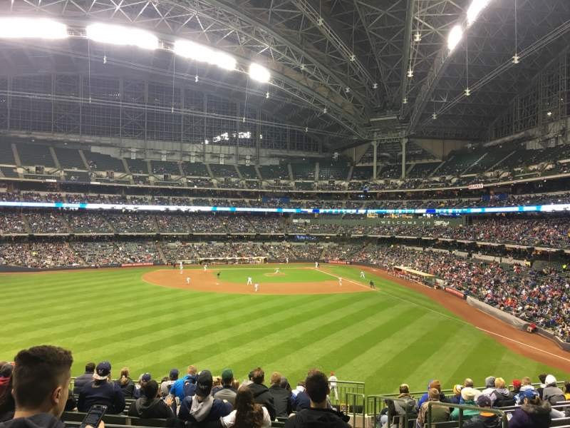 Seating view for Miller Park Section 237 Row 14 Seat 3