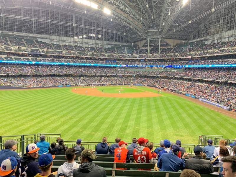 Seating view for Miller Park Section 238 Row ADA Seat 9