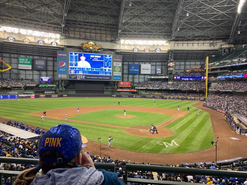 Seating view for Miller Park Section 220 Row 2 Seat 10