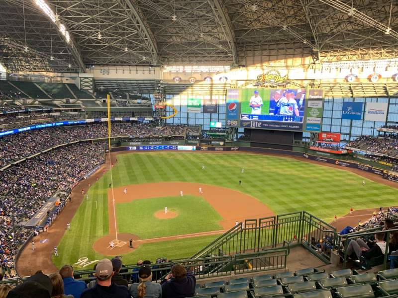Seating view for Miller Park Section 418 Row 14 Seat 15