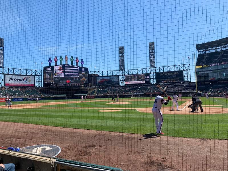 Seating view for Guaranteed Rate Field Section 135 Row 3 Seat 4