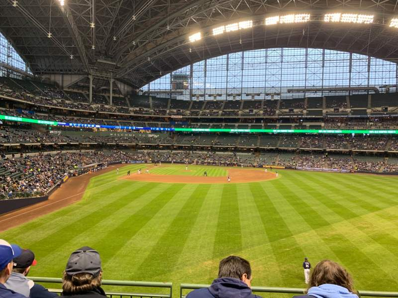 Seating view for Miller Park Section 203 Row 4 Seat 13