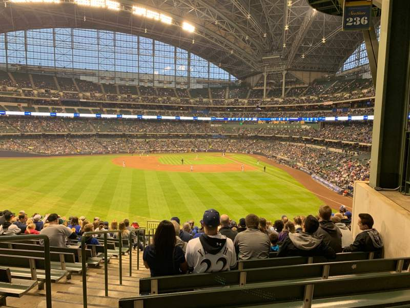 Seating view for Miller Park Section 236 Row 16 Seat 20