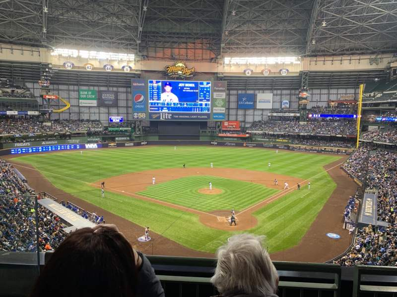 Seating view for Miller Park Section 331 Row 2 Seat 9