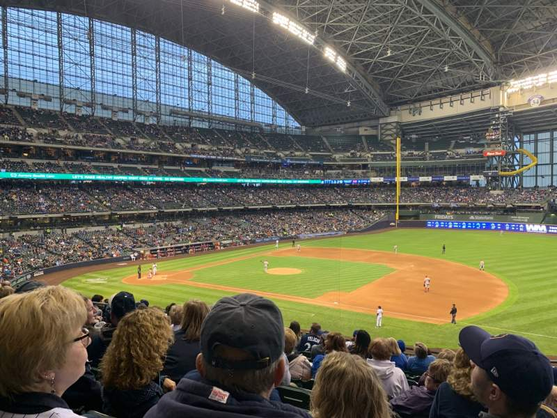 Seating view for Miller Park Section 211 Row 11 Seat 12