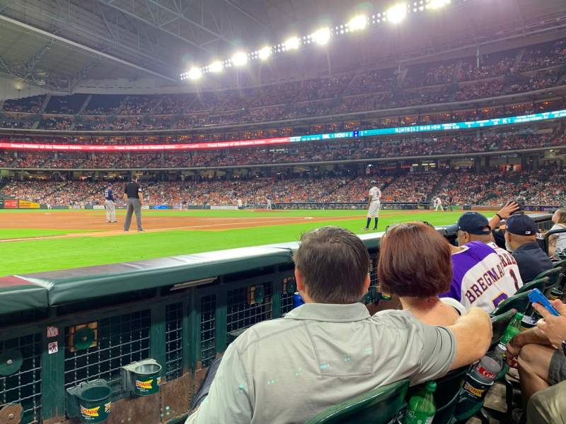 Seating view for Minute Maid Park Section 110 Row 2 Seat 12