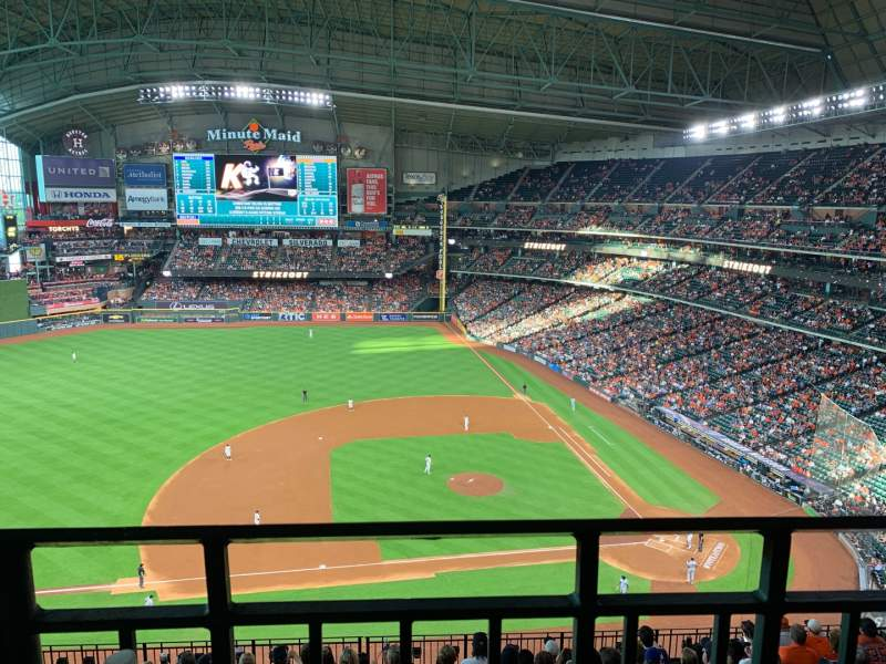 Seating view for Minute Maid Park Section 413 Row 1 Seat 11