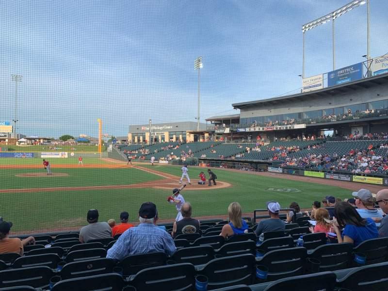 Seating view for Dell Diamond Section 116 Row 10 Seat 15