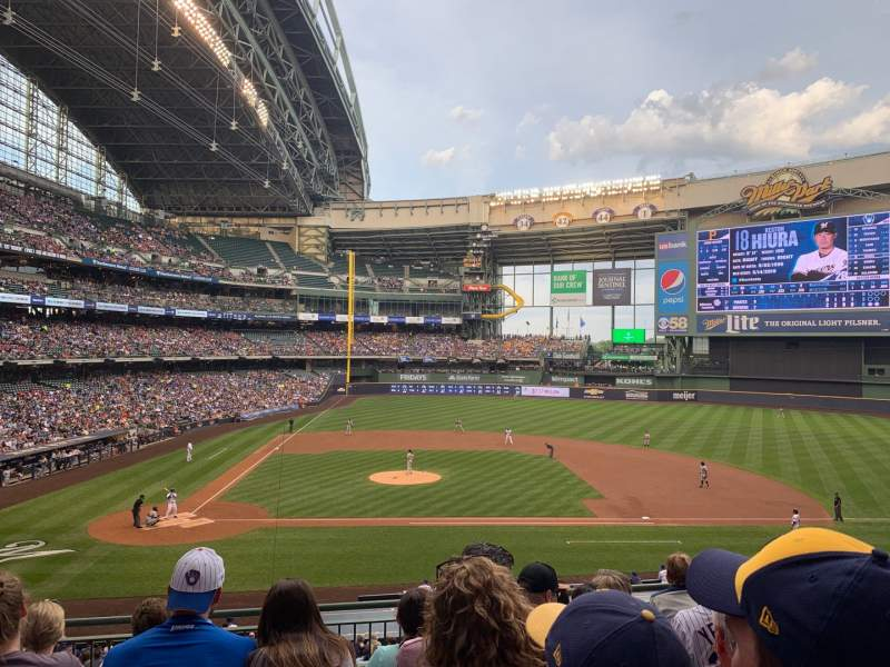 Seating view for Miller Park Section 214 Row 6 Seat 8