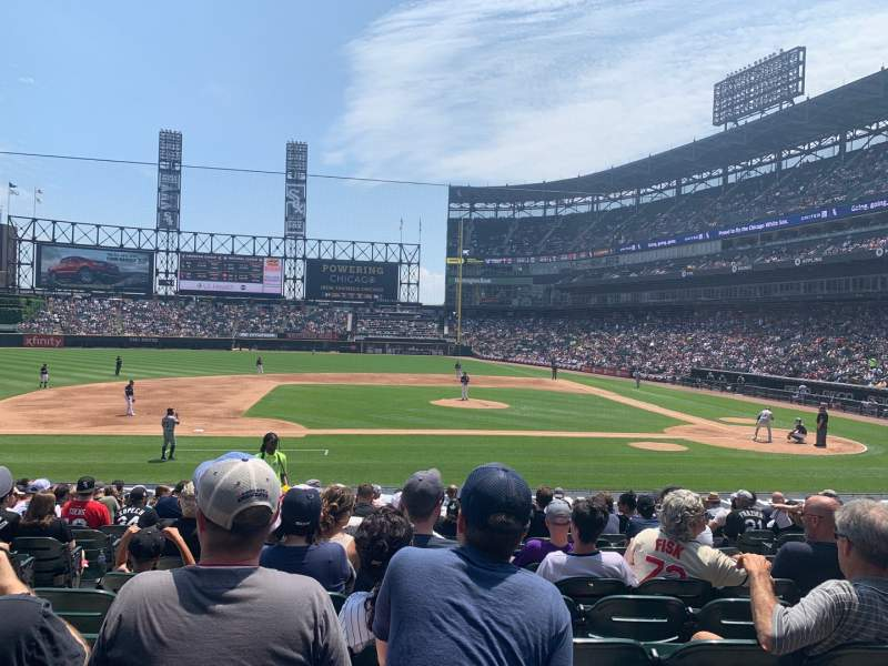 Seating view for Guaranteed Rate Field Section 139 Row 20 Seat 7