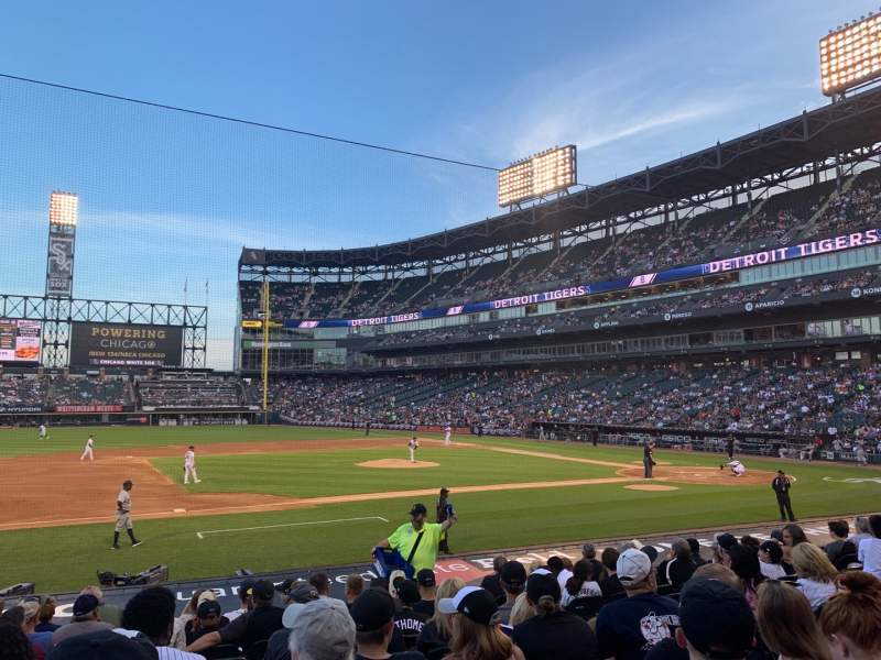Seating view for Guaranteed Rate Field Section 141 Row 15 Seat 6