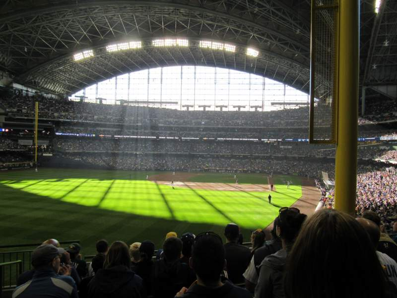 Seating view for Miller Park Section 233 Row 7 Seat 21