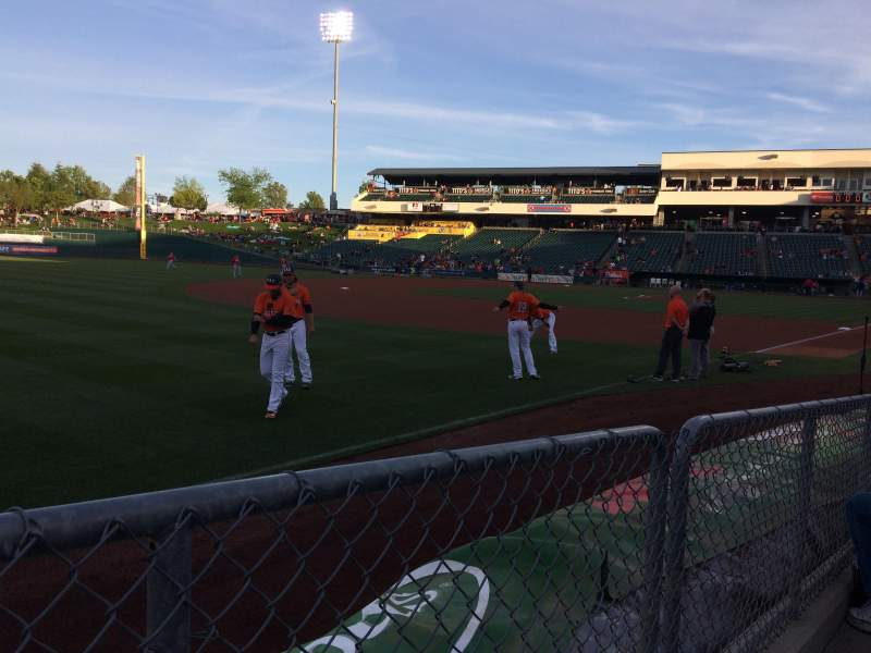 Seating view for Raley Field Section 122 Row 4 Seat 12