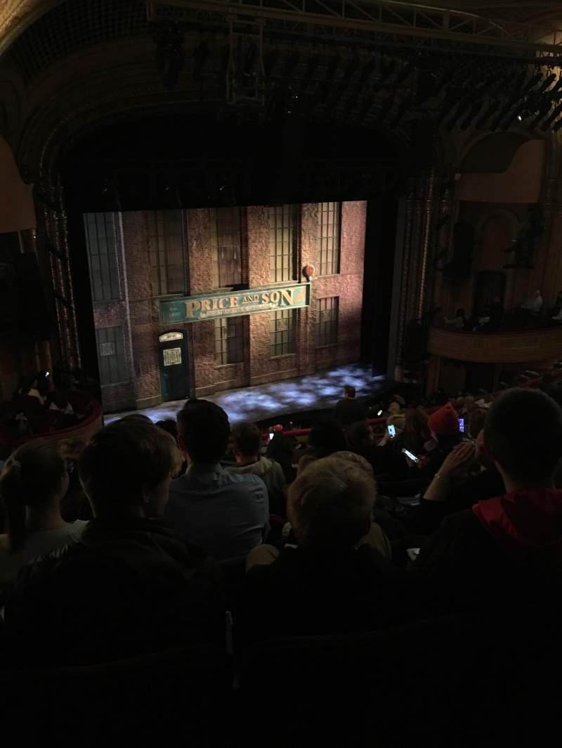 Al Hirschfeld Theatre, section: MezzL, row: P, seat: 25