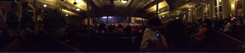 Seating view for Ryman Auditorium Section MF-6 Row X Seat 9