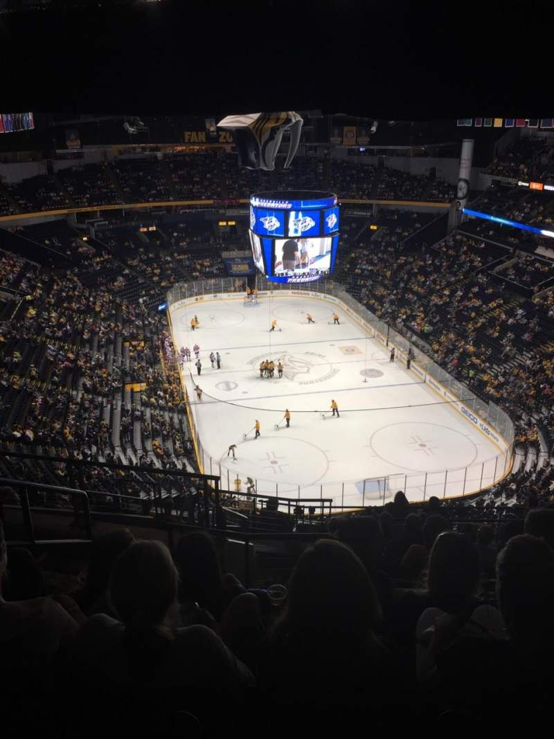 Seating view for Bridgestone Arena Section 333 Row Q Seat 22