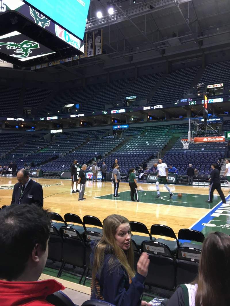Seating view for BMO Harris Bradley Center Section 212 Row A Seat 9