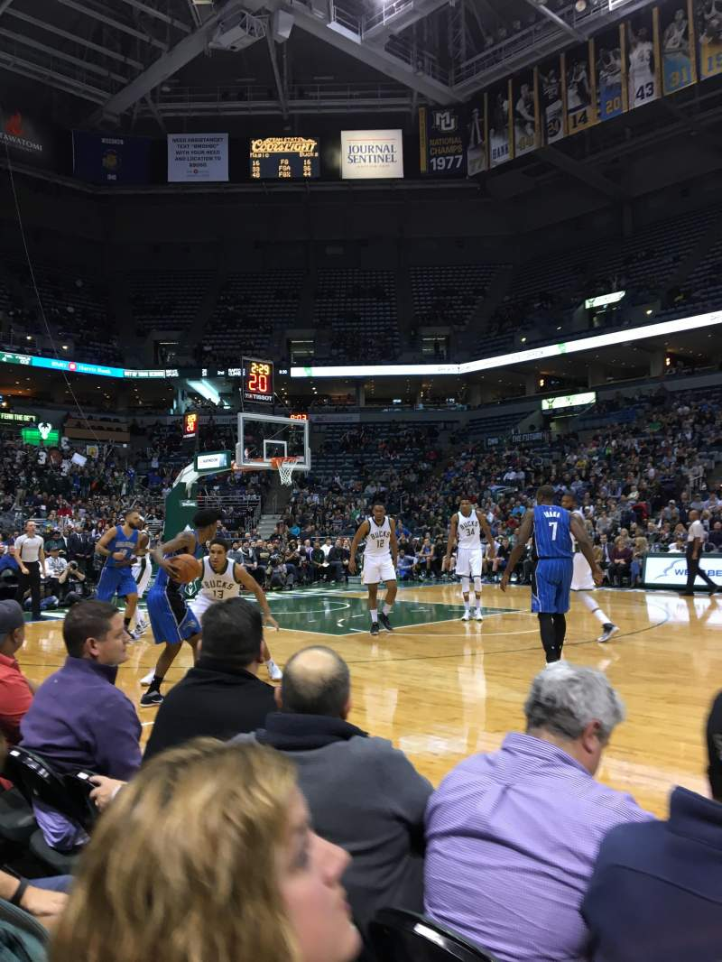 Seating view for BMO Harris Bradley Center Section 214 Row BBB
