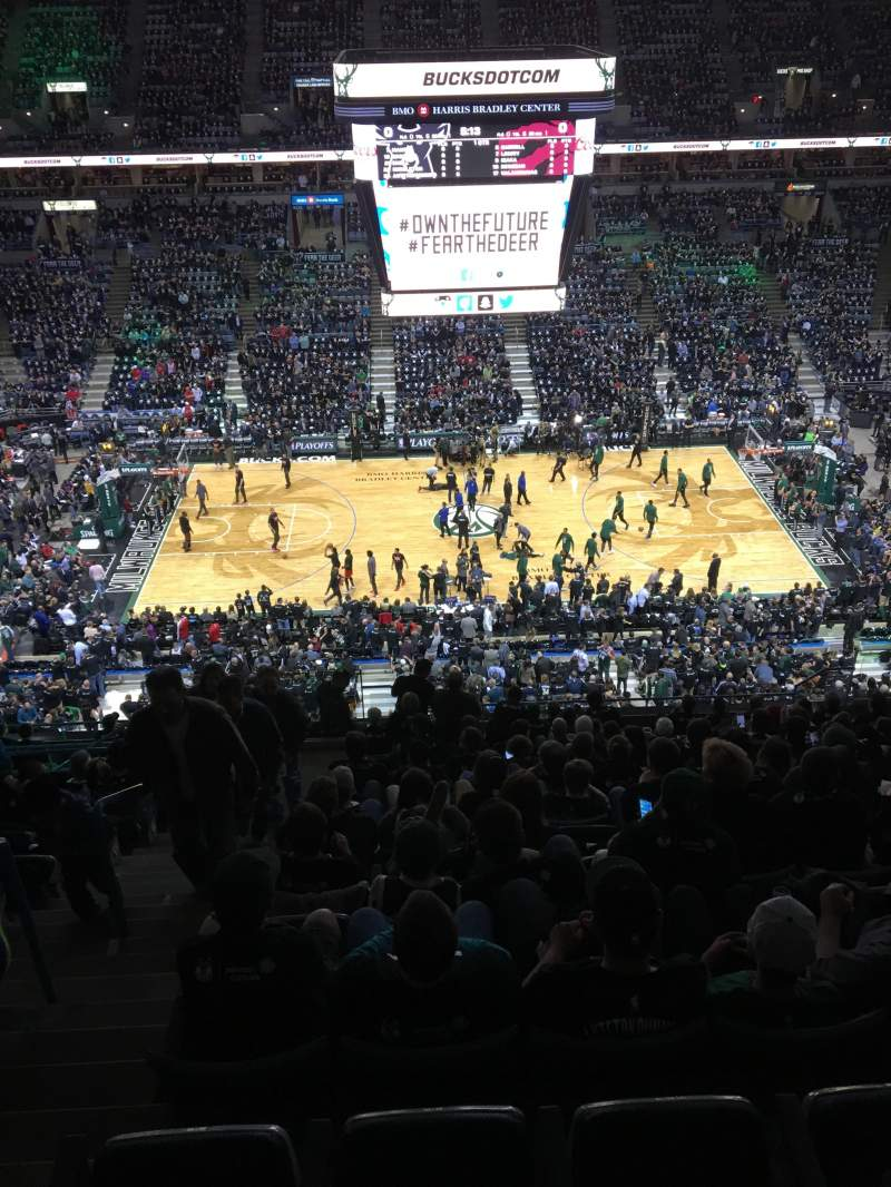 Seating view for BMO Harris Bradley Center Section 422 Row R Seat 13