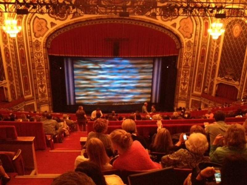 Cadillac palace theater section balcony c row p seat 311 for Balcony novello theatre