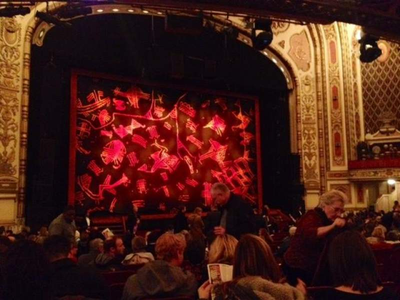 Seating view for Cadillac Palace Theater Section Orchestra L Row T Seat 15