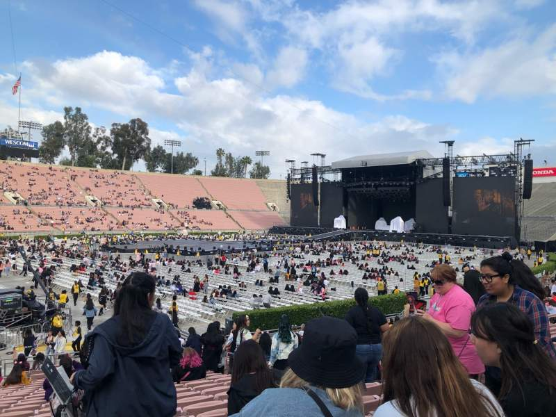 Seating view for Rose Bowl Section 16-L Row 22 Seat 6