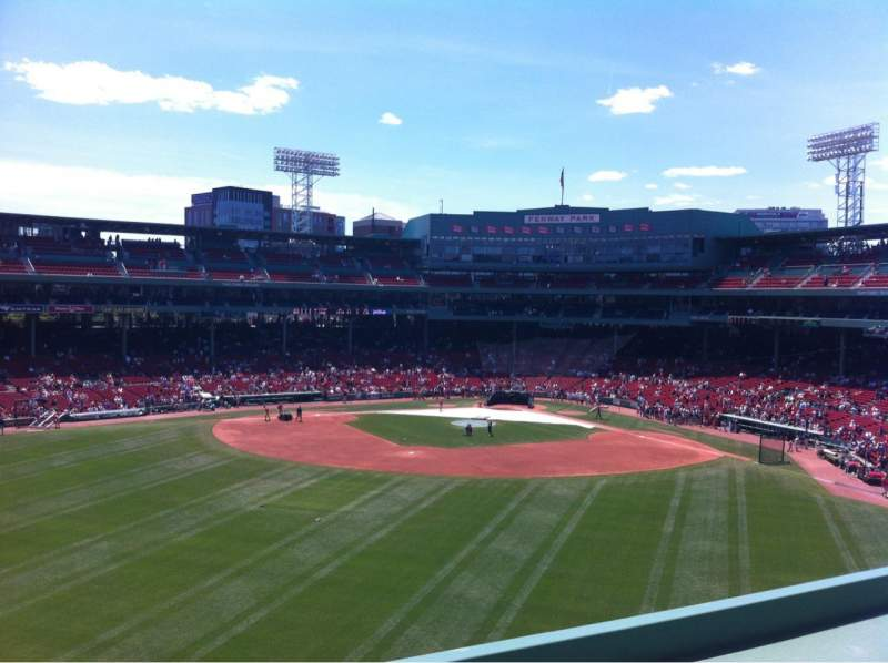 Seating view for Fenway Park Section Green Monster 9